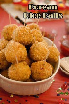 Korean Crunchy Rice Balls   Heart Mind & Seoul
