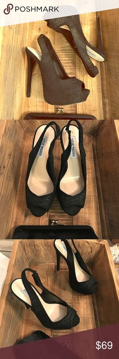 NWT smSteve Madden heels NWT Steve Madden heels. Never worn beautiful and comfortable. Sharp shoes. Steve Madden Shoes Heels