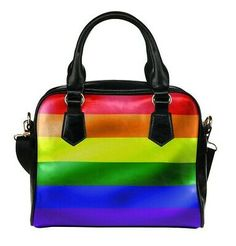 Shoulder Handbag Rainbow Pride Rainbows Colour Stripes Love Is Love Bag Purse #fashion #clothing #shoes #accessories #women #womensbagshandbags (ebay link)