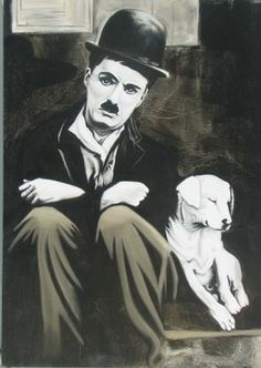 "Saatchi Online Artist Alikhan Alikhanov ; Painting, ""Charlie and the dog"" #art"
