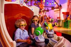 Now you can get in on the action with them when you and your kiddo ride Toy Story Mania! at Disney's Hollywood Studios together. With no height requirement Disney World Tickets, Disney World Parks, Disney World Vacation, Disney World Resorts, Disney Cruise, Disney Vacations, Dream Vacations, Orlando Florida, Orlando Resorts