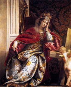 """""""聖ヘレナの夢"""" 1580年頃 パオロ・ヴェロネーゼ"""