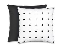 Cross pillow | black and white kids room