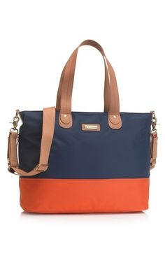 Hot Pink/Brown Storksak Colorblock Diaper Bag available at #Nordstrom