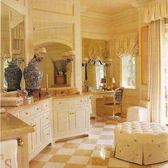 Checkerboard floor.  In cork.
