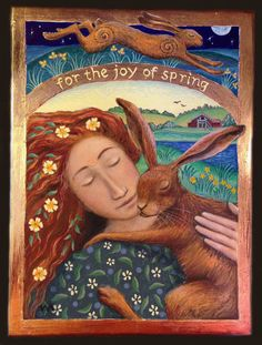 The Joy Of Spring - Fantasy Art - Painting Dreams by Wendy Andrew