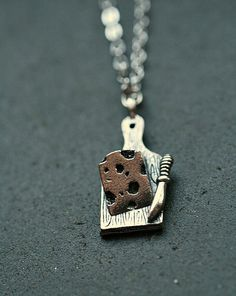 I Love Dairy Necklace by crumpetcake on Etsy, $18.00