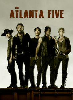 The five originals; Carl, Rick, Glenn, Daryl & Carol
