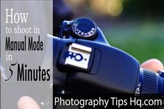 Shoot in manual mode in 5 minutes, the perfect reminder if its been a while!