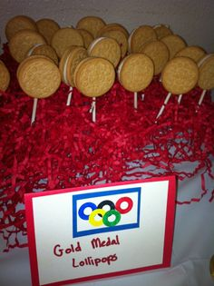 Gold medal lollipops for the Olympics