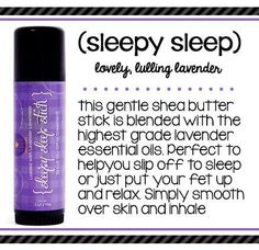 Looking to lull off to sleepy land? This gentle shea butter stick is blended with highest grade lavender essential oils, perfect to help you slip off to sleep or just put your feet up and relax. The Sleepy Sleep stick has natural anti-inflammatory and circulation-improving benefits to help heal you, too. It's a dream come true.