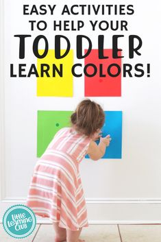 Fun Activities to Help Your Toddler Learn Colors! Educational color matching activities that are easy to make at home. indoor activities for kids. educational printable activities for toddlers. Activities For 1 Year Olds, Counting Activities, Toddler Learning Activities, Montessori Activities, Craft Activities For Kids, Infant Activities, Educational Activities, Kids Learning, Indoor Activities