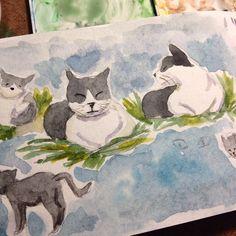 Ahh era a mezinha gatinha valente watercolor dwgdaily