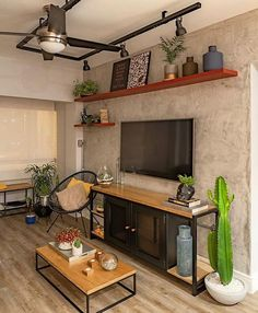 DIY New Industrial Interior Design Ideas Industrial Design Furniture, Industrial House, Industrial Style, Style At Home, Home Design Diy, House Design, Design Ideas, Interior Design Living Room, Living Room Designs