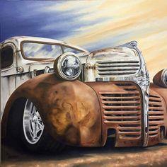 rat rod trucks and cars Dodge Pickup Trucks, Rat Rod Pickup, Vintage Pickup Trucks, Truck Drivers, Cool Trucks, Big Trucks, Semi Trucks, Fargo Truck, Truck Tattoo
