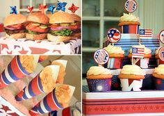 Lots of pictures and Ideas for 4th of July ~ Happy 4th of July + Patriotic Party Inspiration