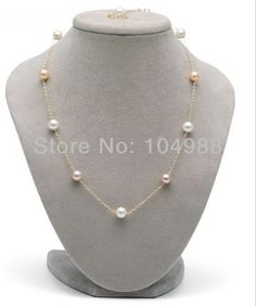 FREE SHIPPING 2014 Style BY-236 Women Fashion Imitation Pearls Necklace Simple Beads Chain Necklace #Affiliate