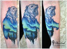 Peter Žuffa #art #tat #tattoo #tattoos #tetovanie #original #tattooart #slovakia #zilina #bodliak #bodliaktattoo #bodliak_tattoo #bear_tattoo #aurora_tattoo #northern_lights_tattoo