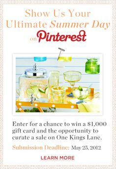 Pin your perfect summer day in our #oklsummer challenge for the chance to win a gift card and other exciting opportunities, the deadline is May 25th! For more info visit https://hosting.thetenthwave.com/oklpinterest/