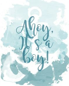 Ahoy It's a Boy  8x10 Printable Baby Shower Sign by Sweetness8
