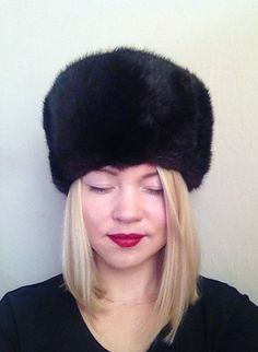 Fur hat Ushanka Russian unisex fur hat Mink Hat Pizhik made in Russia Trapper hat Luxury Winter Hat Soviet warm hat mens trapper hat by TheGarageOffice on Etsy