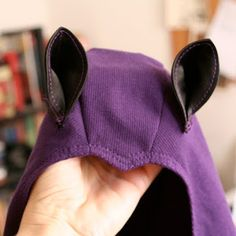Bat Wings Costume   ended up using the same basic ear pattern for my own bat costume...