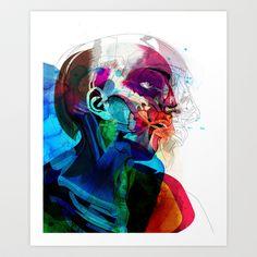Anatomy Gautier v2  Art Print by Alvaro Tapia Hidalgo - $20.00
