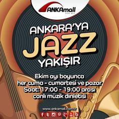 Ankara'ya Jazz Yakışır. Ekim ayı boyunca her Cuma, Cumartesi ve Pazar saat:17:00 - 19:00 arası canlı müzik dinletisi #ANKAmall'da!