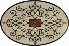 ame Day Ship, 48inch and larger tile floor medallions, Marble tile Medallion, Stone tile floor medallion, Mosaic Flooring, Tile Borders, Wat...