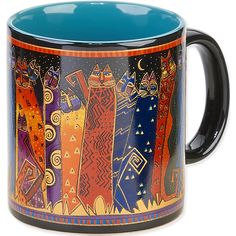 Laurel Burch-Artistic Mug Collection. Laurel Burch is an internationally known artist and designer with an instantly recognizable palette and style. Enjoy vivid and vibrantly colored mugs from her col