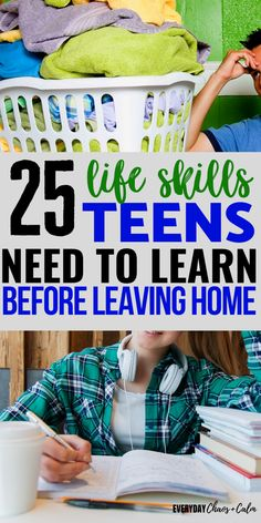 Parenting teens can be hard at times, but it& also a great responsibility to help your teenagers grow up to be fully functioning adults. Here are 25 life skills for teens to teach and practice with your teenager before they leave home. Life Skills For Children, Life Skills Lessons, Life Skills Activities, Life Skills Classroom, Teaching Life Skills, Activities For Teens, Skills To Learn, Teaching Kids, College Teaching