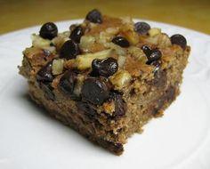healthy gluten free cake recipe - oatmeal chocolate chip cake