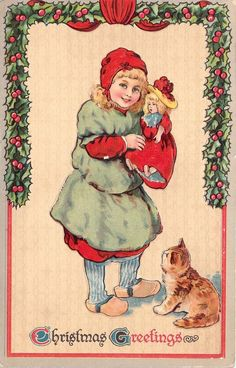 Old Christmas Post Сards — Christmas Greetings, c.1907 (1024×1600)