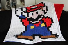 Super Mario fleece blanket #nintendo #gameboy #8bit #pixel