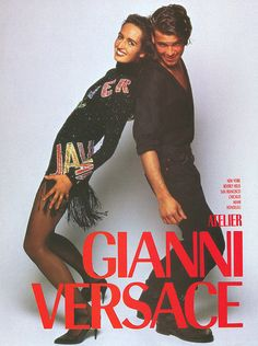 Versace Fall/Winter 89.90 (Ad Campaign)  Model: Gail Elliott  Photographer: Bruce Weber http://supermodelobsession.tumblr.com