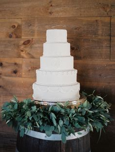 Five tier wedding cake: http://www.stylemepretty.com/wisconsin-weddings/2017/02/06/charming-wisconsin-wedding-in-the-quiet-countryside/ Photography: Amy Gaerthofner - http://amygaerthofner.com/