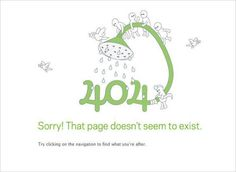 404 error creative page, green shower