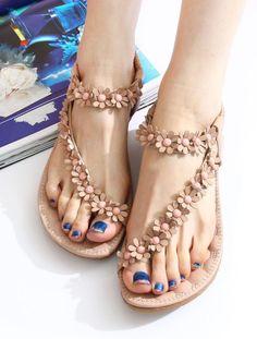 Sweet Bohemian Beaded Sandals