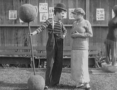 Charlie Chaplin & Edna Purviance  - The Champion 1915