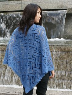 Forget-Me-Not Shawl by Shui Kuen Kozinski.  Pattern available from: http://international.elann.com/product/forget-me-not-shawl/