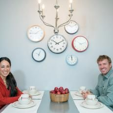Chip and Joanna Gaines at Kitchen Table