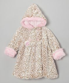 Take a look at this Pink Leopard Faux Fur Mary-Jayne Bubble Coat - Infant & Toddler on zulily today!