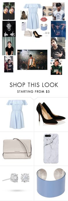 """dinner party with him💙"" by briannacliffs ❤ liked on Polyvore featuring Miss Selfridge, Michael Kors, Masquerade, Maison Margiela and Lime Crime"