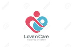 45460020-Mother-and-child-Logo-design-vector-template-Take-care-about-infant-Mom-helps-son-daughter-Heart-sha-Stock-Vector.jpg (1300×840)