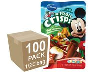 Brothers-All-Natural Mickey Mouse Apple Cinnamon Fruit Crisps, 1/2 c bags, 100-pack 100% Fruit Snacks. Thats it! NOTHING ELSE is added! Gluten free, soy free, peanut/tree nut free, non GMO, vegan, and OU Kosher certified a healthy way to get your fruit servings on the go! #FreezeDried #FruitCrisps #Disney #Apples #Cinnamon