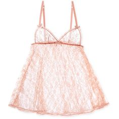 L'Agent by Agent Provocateur Monica Babydoll Chemise (1 090 ZAR) ❤ liked on Polyvore featuring intimates, chemises, pink, lacy slips, babydoll chemise, pink slips, baby doll chemise and lace chemise
