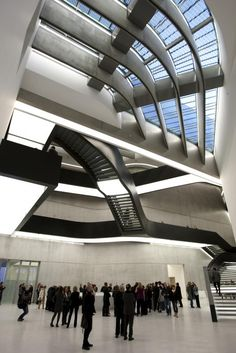 Internationally renowned Iraqi-British architect Zaha Hadid, seen here inside the Maxxi museum in Rome, has died aged 65, her company said on Thursday.