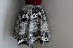 Marvel Comics, Womens Skirts, Comic Book Skirts, Vintage Marvel, Geekery. Geek Clothing, Comic Book Skirt.