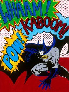 Batman Pop art print 8x10 by artloveandkids on Etsy, $20.00