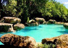 Piscina natural Lagoon Pool, Aqua, Dream Vacations, Bouldering, Swimming Pools, Ponds, Waterfalls, Outdoor, Natural